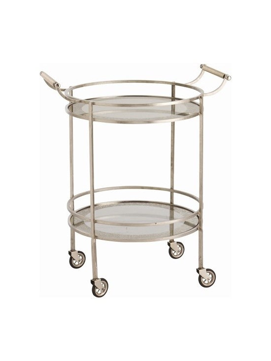 Arteriors Wade Vintage Silver/Glass Bar Cart - Wade Vintage Silver/Glass Bar Cart
