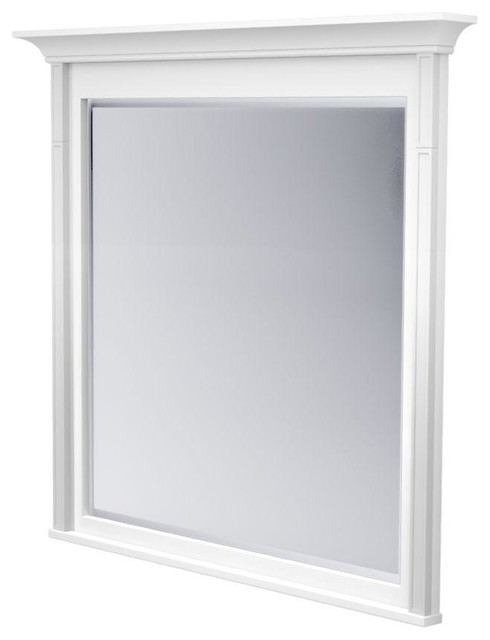 White framed bathroom mirrors for White framed mirror