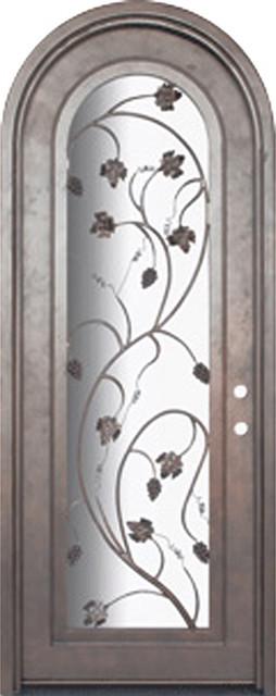 Vineyard 36x96 wrought iron wine cellar door 14 gauge for 14 gauge steel door