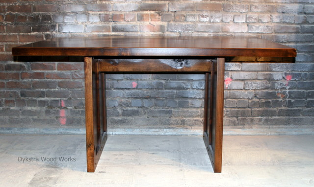 dining room table craftsman other metro by dykstra wood works