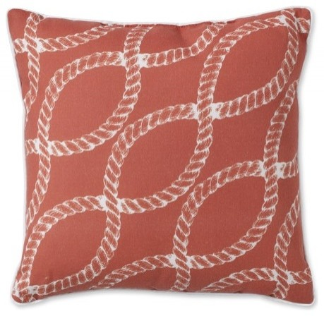 Nautical Rope Printed Outdoor Pillow contemporary-outdoor-cushions-and-pillows