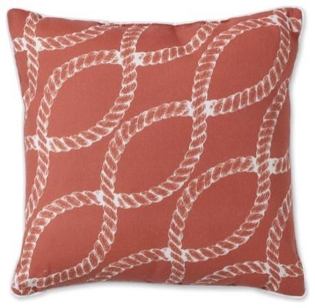 Nautical Rope Printed Outdoor Pillow contemporary-outdoor-pillows