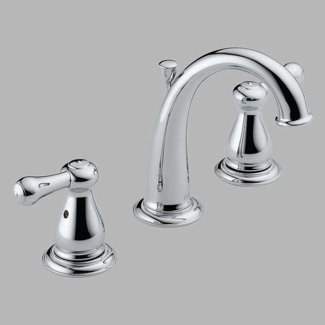 Delta leland 3575lf double handle widespread bathroom sink - Delta contemporary bathroom faucets ...