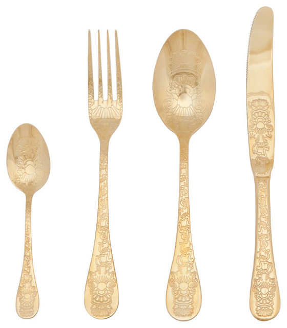 Engraved Flatware Contemporary And Silverware