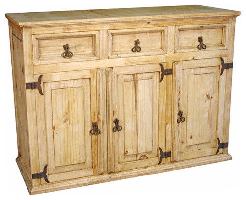 Rustic pine buffet buffets and sideboards by