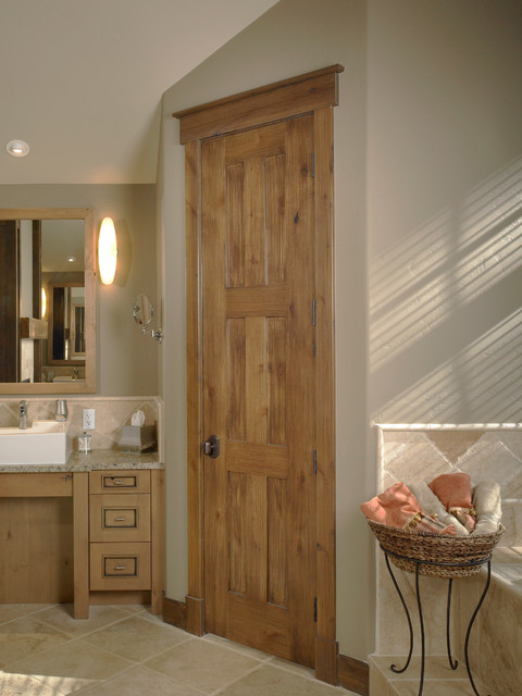 Rustic Craftsman Traditional Interior Doors Denver