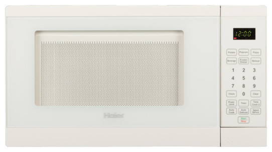 Haier 0.7 Cubic-Foot 700W Microwave White contemporary-microwave-ovens