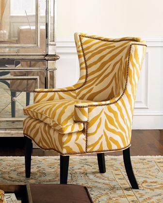 Sunflower Zebra Chair traditional-chairs