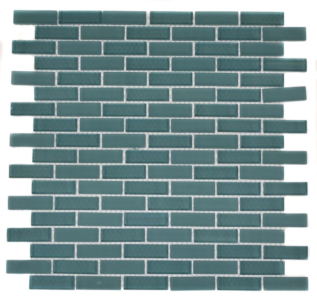 Loft Turquoise Brick Pattern contemporary-tile