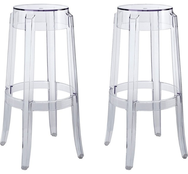 Casper Bar Stool in Polycarbonate Set of 2 Clear  : contemporary bar stools and counter stools from houzz.com size 640 x 592 jpeg 48kB