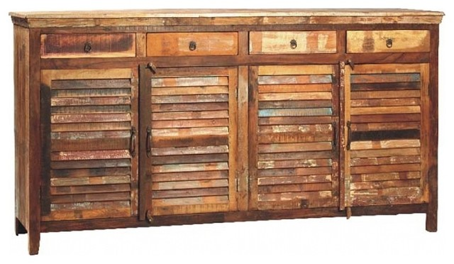 Chimney Rock Four Drawer Four Door Distressed Wood Multistain