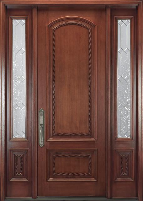 Victorian Doors Solid Cherry Exterior Door With Hand