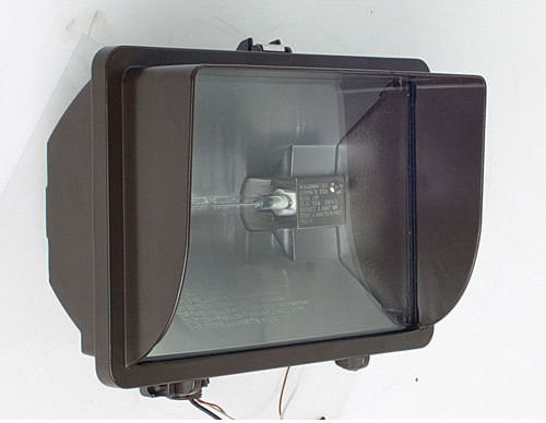 one light 500 watt outdoor quartz flood fixture with. Black Bedroom Furniture Sets. Home Design Ideas