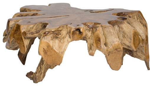 Teak Root Coffee Table eclectic coffee tables