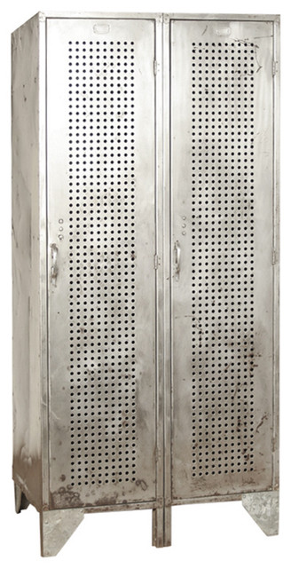 Tall Deep Vintage Industrial Perforated Steel Lockers - Eclectic - Dressers - new york - by ...