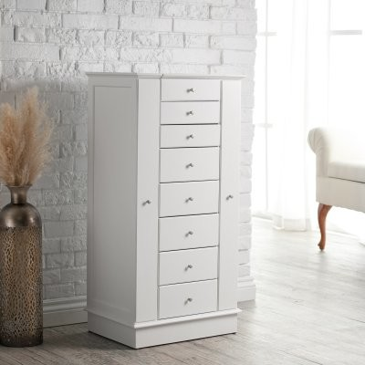 ... with Quilted Pullout Storage - White modern-storage-units-and-cabinets