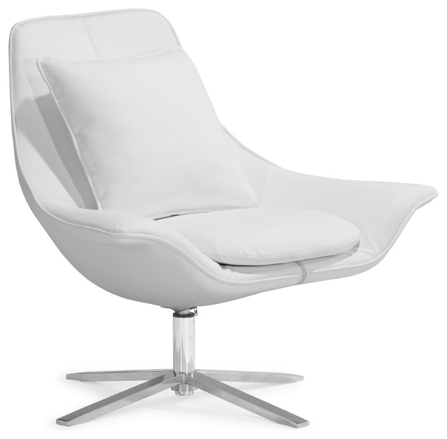 Vital Lounge Chair White contemporary-living-room-chairs