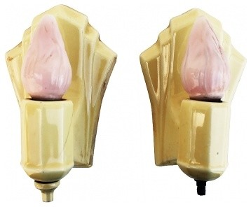 Art Deco Bathroom Wall Sconces - traditional - bathroom lighting