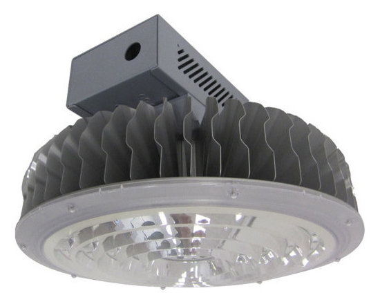 MaxLite - MaxLite BayMAX LED Round Pendant High Bay Light, 144 Watts - The BayMAX LED Round Pendant High Bay Lights are designed for 25-foot and higher ceiling applications in warehouses, gymnasiums, general manufacturing and general task areas. With an enclosed power supply housing and covered optics, these units are designed for durability in difficult installation locations.