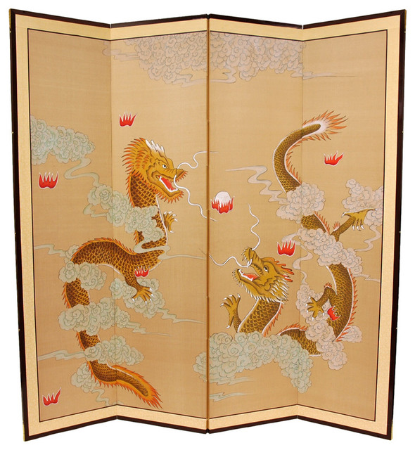 Http Www Houzz Com Photos 437471 Dragons Playing Room Divider Asian Screens And Room Dividers