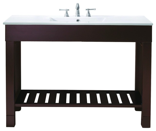 "Avanity LOFT-V48-DW Loft 48"" Vanity Cabinet Only in Dark Walnut traditional-bathroom-vanities-and-sink-consoles"