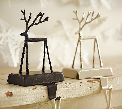 Twig Reindeer Stocking Holder Christmas Stockings And