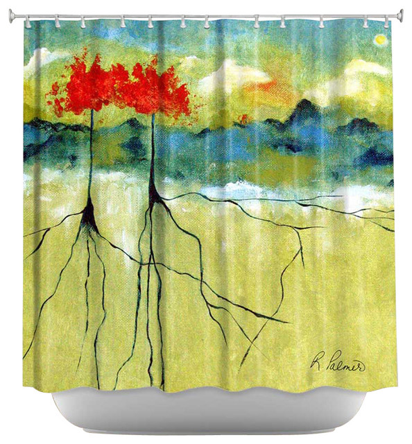 Shower Curtain Artistic - Deep Roots contemporary-shower-curtains