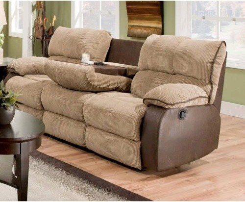 Chelsea Home Cortland Dual Reclining Sofa With Drop Down