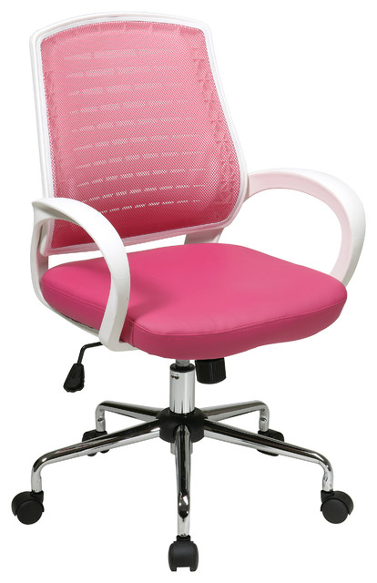 Ave-Six RIO Collection Pink Executive Office Chair modern-task-chairs