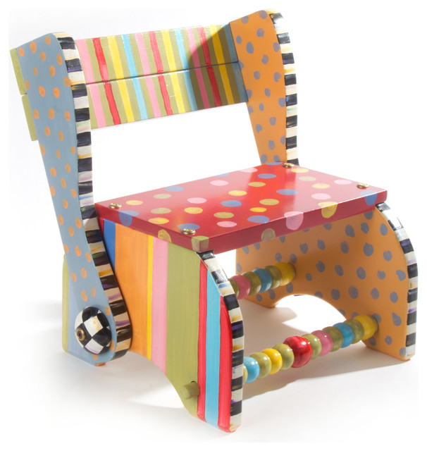 Step Stool Mackenzie Childs Eclectic Kids Step