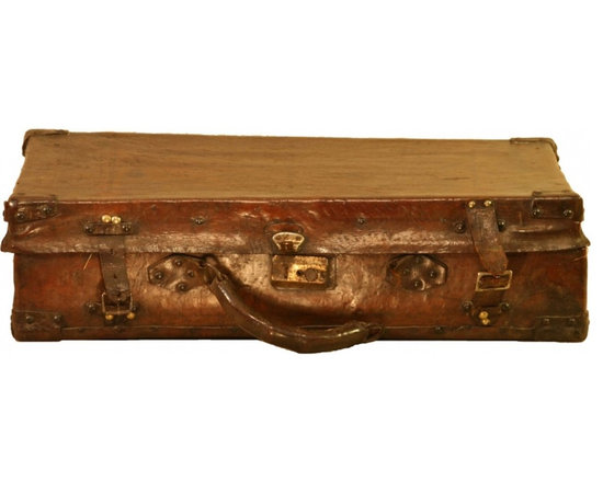 Leather Suitcase - Vintage Leather Suitcase This suitcase is worn leather with the orignial hardware and traditional vibrant floral lining. From Brazil.