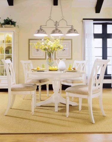 drew 920 701r set camden white round dining table set camden light