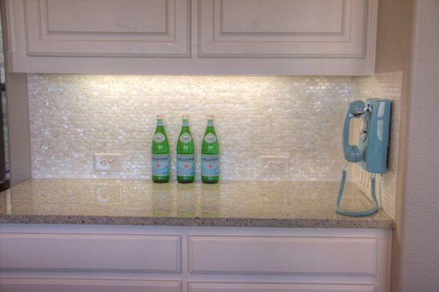 white mother of pearl minibrick tile for backsplash and bathroom