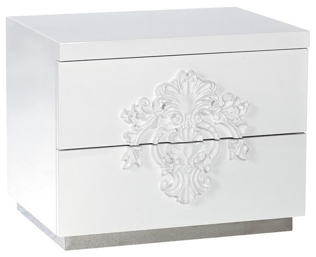 Modern 2 Drawer Nightstand - Juliet modern-side-tables-and-end-tables