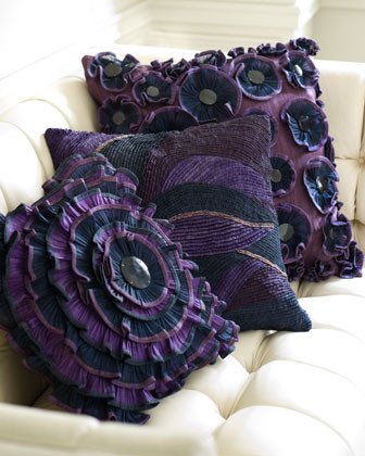 Mini Ruffle Circle Pillow traditional-decorative-pillows