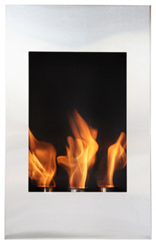"Bioflame Xelo 13"" Burner Stainless Steel Wall Mounted 12,000 BTU  Fireplace modern-indoor-fireplaces"