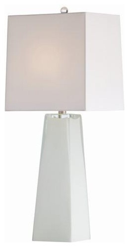 Arteriors Roma White Cased Glass Lamp traditional-table-lamps