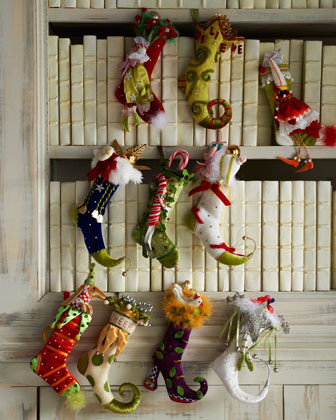 Patience Brewster Ten Tiny Christmas Stockings traditional-holiday-decorations