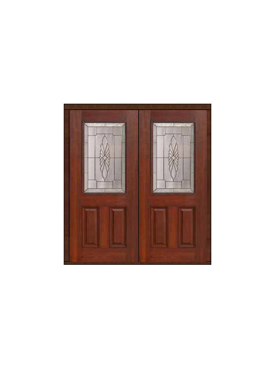 "Prehung Double Door 80 Fiberglass Versailles 2 Panel 1/2 Lite Glass - SKU#    MCT01602_DFHV2Brand    GlassCraftDoor Type    ExteriorManufacturer Collection    1/2 Lite Entry DoorsDoor Model    VersaillesDoor Material    FiberglassWoodgrain    Veneer    Price    3050Door Size Options    2(32"")[5'-4""]  $02(36"")[6'-0""]  $0Core Type    Door Style    Door Lite Style    1/2 LiteDoor Panel Style    2 PanelHome Style Matching    Door Construction    Prehanging Options    PrehungPrehung Configuration    Double DoorDoor Thickness (Inches)    1.75Glass Thickness (Inches)    Glass Type    Double GlazedGlass Caming    Satin NickelGlass Features    Tempered glassGlass Style    Glass Texture    Glass Obscurity    Door Features    Door Approvals    Energy Star , TCEQ , Wind-load Rated , AMD , NFRC-IG , IRC , NFRC-Safety GlassDoor Finishes    Door Accessories    Weight (lbs)    603Crating Size    25"" (w)x 108"" (l)x 52"" (h)Lead Time    Slab Doors: 7 Business DaysPrehung:14 Business DaysPrefinished, PreHung:21 Business DaysWarranty    Five (5) years limited warranty for the Fiberglass FinishThree (3) years limited warranty for MasterGrain Door Panel"