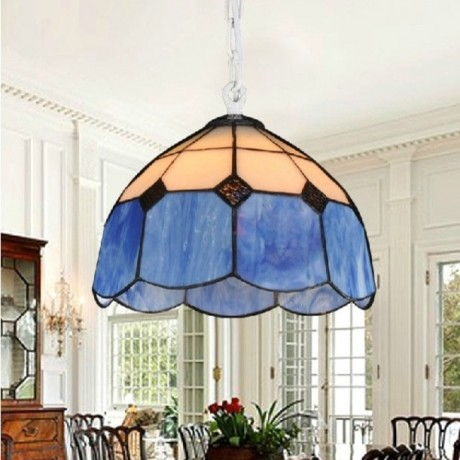 JollyHome Single Mini Lighting Cheap Pendant Lights Blue and White modern-pendant-lighting