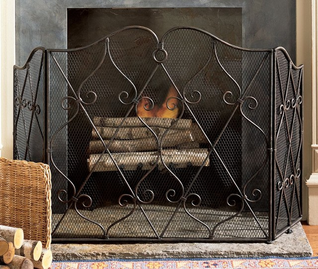 Fireplace Screen by Pierre Deux traditional-fireplace-accessories