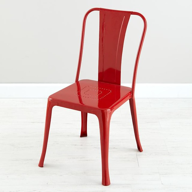 Iron Rich Play Chair Red Modern Kids Chairs by The