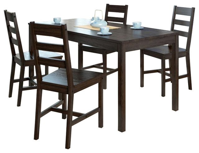 Sonax CorLiving 5 Piece Dining Set in Cappuccino transitional-dining-sets
