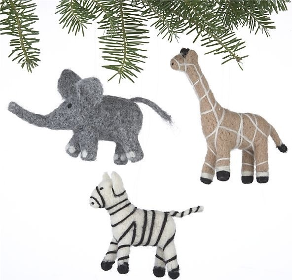 Eclectic Christmas Ornaments by Crate&Barrel
