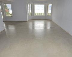 concrete floor pros and cons. Black Bedroom Furniture Sets. Home Design Ideas