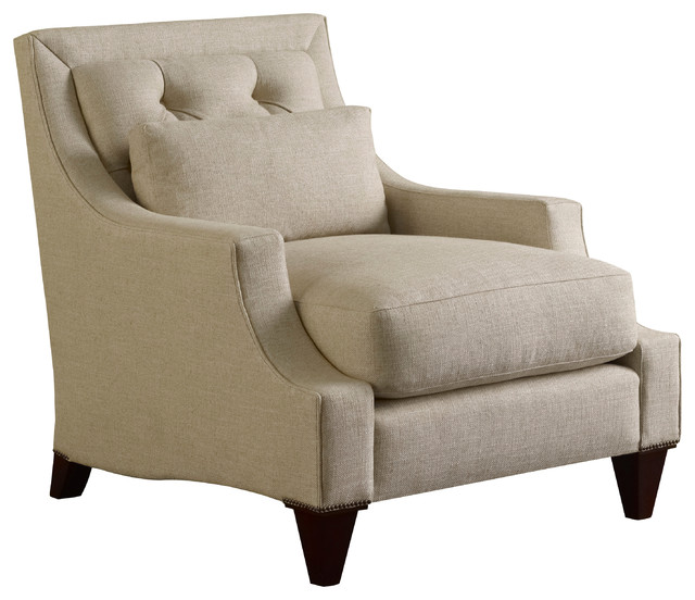 Max Club Chair Tufted Baker Furniture Traditional Armchairs And Accen