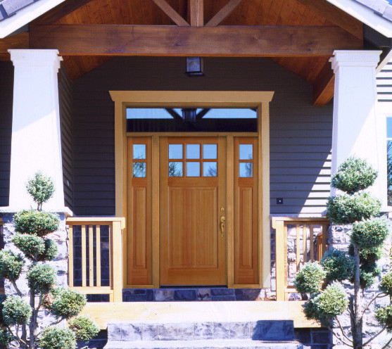 Beautiful front door ideas front doors boise by view for Front window ideas