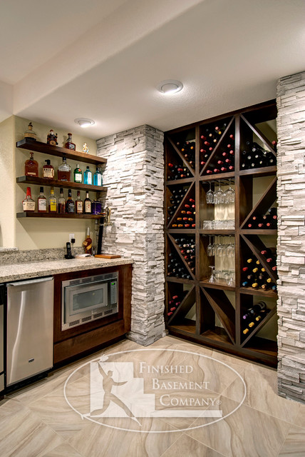 Basement Wine Cabinet contemporary-basement