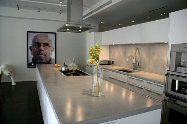 Concrete Kitchen Countertops Modern Kitchen Worktops New York By Concrete Shop