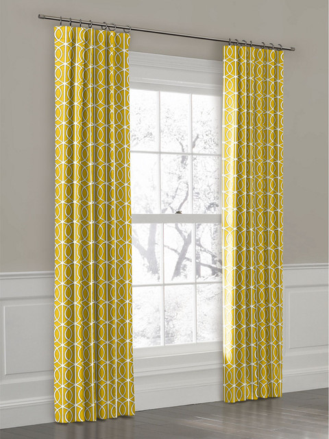 Curtain Over Front Door Panels With Grommets
